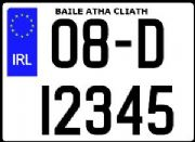 Registration number plate perspex